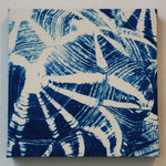 爬虫鋼 -type02- / 2013 ED.5 S0号(180×180mm) cyanotype 紙 木製パネル