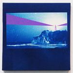 ある夜の3分間-02- / 2014 SSM cyanotype シルクスクリーン