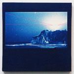ある夜の3分間-01- / 2014 SSM cyanotype シルクスクリーン