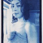 風呂女子 -sn15- / 2015 P8号 布にcyanotype