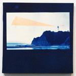 ある朝の15秒間-01- / 2014 SSM cyanotype シルクスクリーン