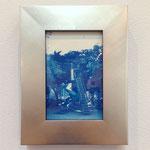 あの日のそれら -銀色のぐるぐる- / 2015 150×100mm 紙にcyanotype