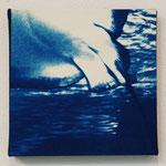 軟骨魚鋼 -type01- / 2013 ED.5 S0号(180×180mm) cyanotype 紙 木製パネル