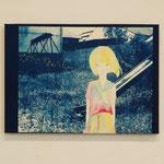 やましたみか×ベロニカ都登 -02- / 2012 420×297mm cyanotype アクリル 紙 木製パネル ★