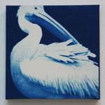 鳥鋼 -type02- / 2013 ED.5 S0号(180×180mm) cyanotype 紙 木製パネル ★