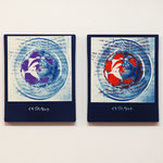 いちごのタルト P , R / 2014 F3号 cyanotype シルクスクリーン