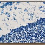 所在不明 , Rugen Jasmunt / 2016 F4 紙にcyanotype