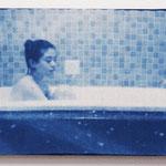 風呂女子 -ee08- / 2015 M3号 布にcyanotype ★