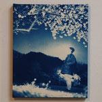 2012.04.09 -03- / 2012 F3号(220×273mm) cyanotype 紙 木製パネル