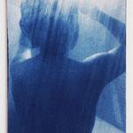風呂女子 -ee05- / 2015 F4号 布にcyanotype