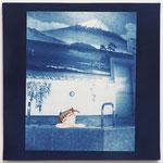 やましたみか×ベロニカ都登 -10- / 2015 S5号 cyanotype アクリル 紙