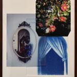 夕刻前の二十分 / 2017 紙にcyanotype、フィルム