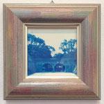 あの日のそれら -隣町のふたつ穴- / 2015 100×100mm 紙にcyanotype