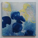 やましたみか×ベロニカ都登 -05- / 2013 530×530mm cyanotype アクリル 紙 木製パネル