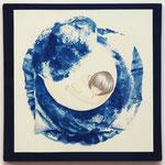 やましたみか×ベロニカ都登 -08- / 2014 S5号 cyanotype アクリル 紙
