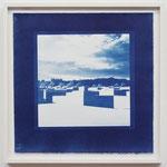 Quadrat meditation , Potsdamer Platz / 2016 S8 紙にcyanotype