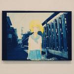 やましたみか×ベロニカ都登 -04- / 2012 420×297mm cyanotype アクリル 紙 木製パネル
