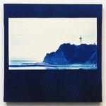 ある朝の15秒間-02- / 2014 SSM cyanotype シルクスクリーン