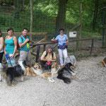 mit Freunden im Tierpark