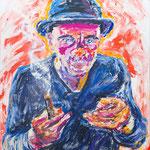 Fritz Oesterlein: Joe Marx 80x100 Acryl/Sand