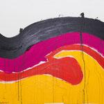 Hansi Oesterlein: Schwarzer Regen 80x100 Acryl