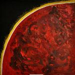 Hansi Oesterlein: Die Erde brennt - 90x90 Acryl