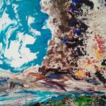 Fritz Oesterlein: Ohne Titel  80x100Acryl/Sand