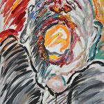 Fritz Oesterlein: Schmerz1  60x80 Acryl