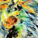 Fritz Oesterlein: Venusproduberanzen 80x100 Acryl