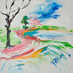 Fritz Oesterlein :Darscho  Acryl 80x100