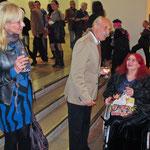 MiR Sarolta Schredl, Künstlerhauspräsident Prof. Joachim Gartner, Hansi Oesterlein