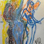 Fritz Oesterlein: Die drei Grazien  Acryl 50x70
