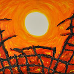 Hansi Oesterlein: 9/11 - 80x100 Acryl