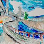 Fritz Oesterlein: Der Weg Acryl  80x100