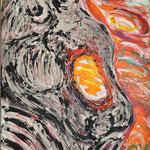 Fritz Oesterlein: Schmerz 2  60x80 Acryl