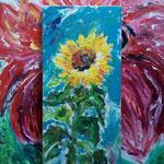 Fritz Oesterlein: Florkomposition  Acryl  80x100