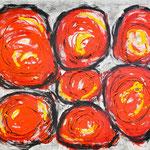 Hansi Oesterlein: Gentomaten - 80x100 Acryl