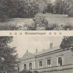 Guthaus Großenhagen und Parkansicht um 1910