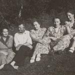 Die ganze Familie Herrmann in den 40er Jahren.