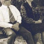 Anna und Walter Herrmann zu Besuch in Neubrandenburg.