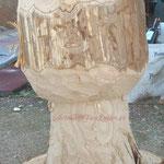 Un tronco de Castaño se va a convertir en una gran seta