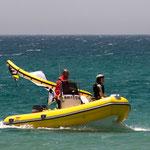 Rescue Boat Kitesurfing Boat lessons Tarifa