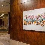 """ANA  インターコンチネンタルホテル東京  二人展 """"Layers""""  展示風景 1F"""