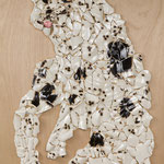 dimension  Sculptures  (dog)    1620mm×970mm    パネル,MDF,ボンド,陶器