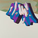 Overlap of paint   (Untyu Fuji)        653mm×455mm          キャンバス、ジェッソ、アクリル