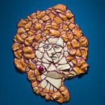 Dimension painting   (Marilyn)         727mm×727mm           パネル、セラミック、セラミックボンド、ラメ、アクリル