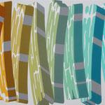 Overlap of paint   (Gradation)   500mm×727mm   キャンバス、ジェッソ、アクリル