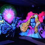 Laserquest nijmegen, glow in the dark, Marvel superheroes