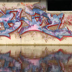 HerzOne graffiti, 2008, Blitz, water reflection
