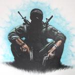 Kinderkamer, kidsroom, Call of Duty, graffiti